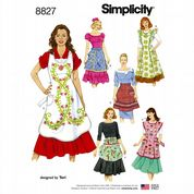 8827 Simplicity Pattern: Classic Aprons